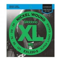 Struny D'ADDARIO XL Nickel EXL220-5 (40-125) 5str.