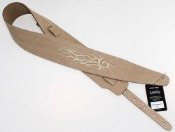 Pasek skórzany RALI Embroidery 07 032 (beżowy)