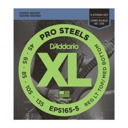 Struny D'ADDARIO ProSteels EPS165-5 (45-135) 5str.