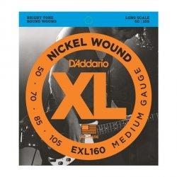Struny D'ADDARIO XL Nickel Wound EXL160 (50-105)