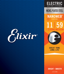 Struny ELIXIR NanoWeb Nickel Plated (11-59) 7str
