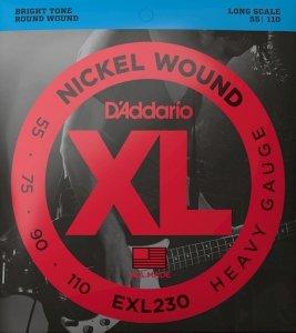 Struny D'ADDARIO XL Nickel Wound EXL230 (55-110)
