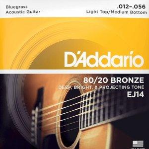 Struny D'ADDARIO 80/20 Bronze Wound EJ14 (12-56)