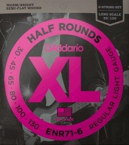 Struny D'ADDARIO Half Rounds ENR71-6 (45-130) 6str