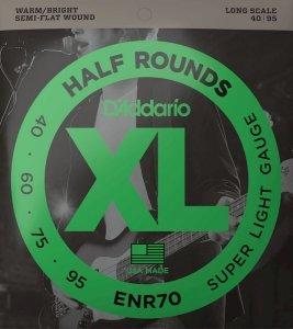 Struny D'ADDARIO Half Rounds ENR70 (40-95)