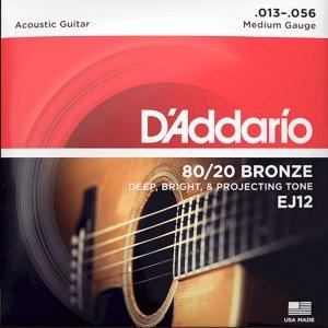 Struny D'ADDARIO 80/20 Bronze Wound EJ12 (13-56)