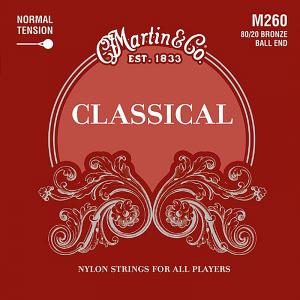 Struny do klasyka MARTIN Classical M260 Ball End