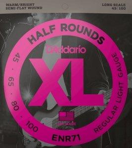 Struny D'ADDARIO Half Rounds ENR71 (45-100)
