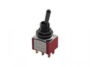 Przełącznik DPDT on-on mini MEC 80002 (BK)