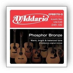 Struny D'ADDARIO Phosphor EPBB170-5 (45-130) 5str.