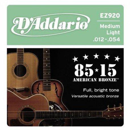 Struny D'ADDARIO EZ920 (12-54)