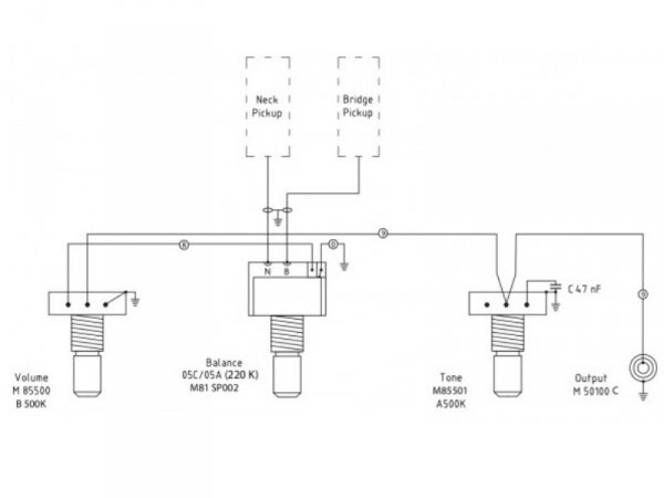 Pasywna elektronika MEC do basu Corvette Standard