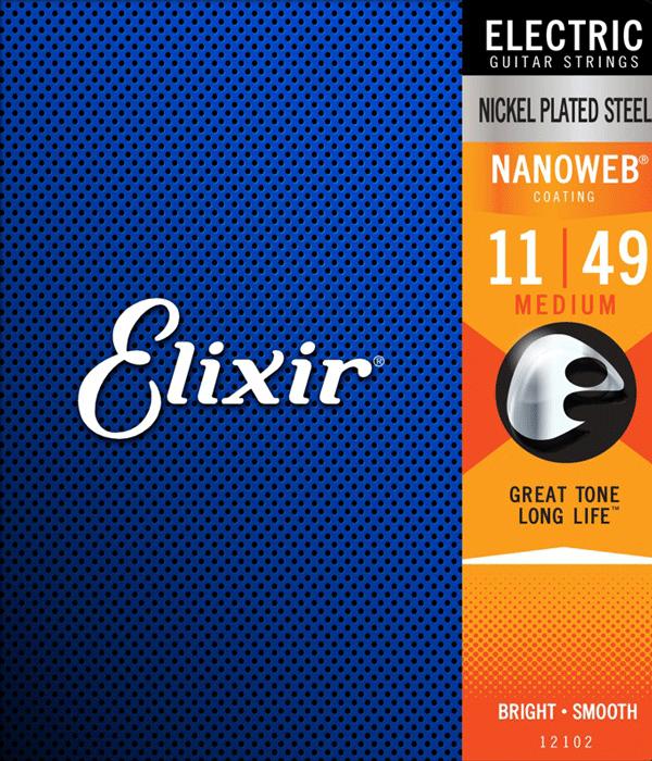 Struny ELIXIR NanoWeb Nickel Plated (11-49)