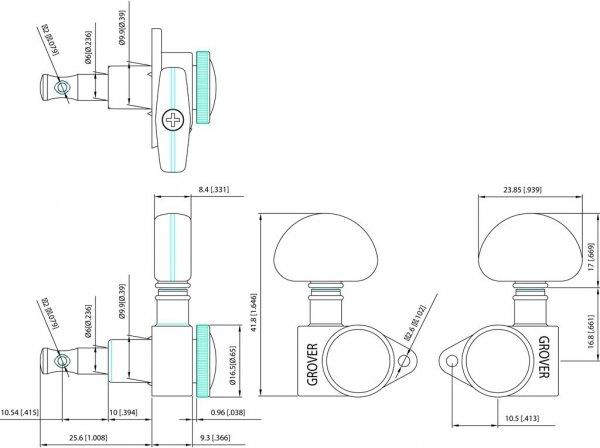 Klucze blokowane GROVER Roto-Grip 502 (BC,3+3)