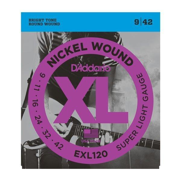 Struny D'ADDARIO XL Nickel Wound EXL120 (09-42)