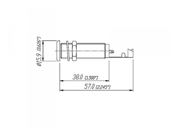 REAN NYS2202 cylindryczne gniazdo jack (mono)