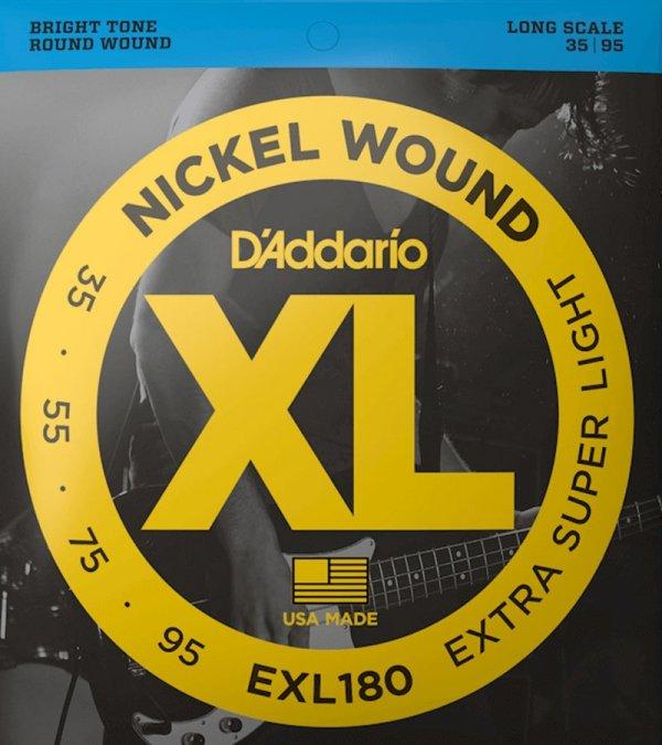 Struny D'ADDARIO XL Nickel Wound EXL180 (35-95)