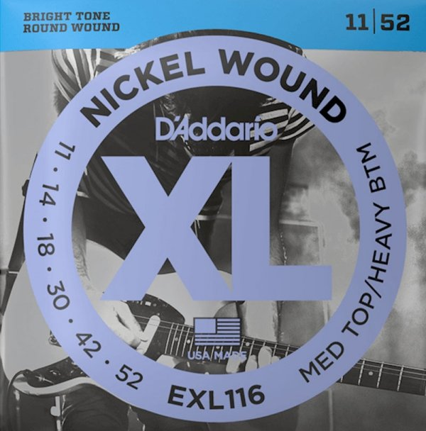 Struny D'ADDARIO XL Nickel Wound EXL116 (11-52)
