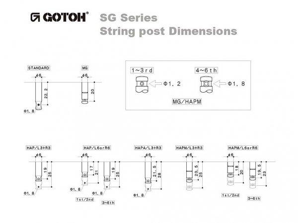 Klucze do gitary GOTOH SG381-05 (CR,3+3)