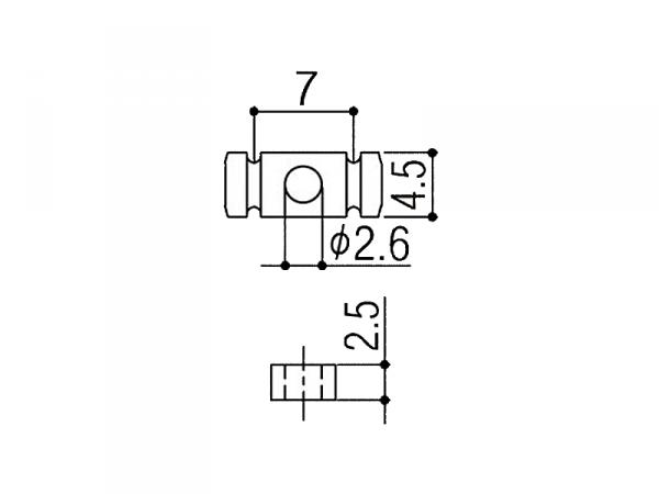 Docisk strun GOTOH RG15 (BK)