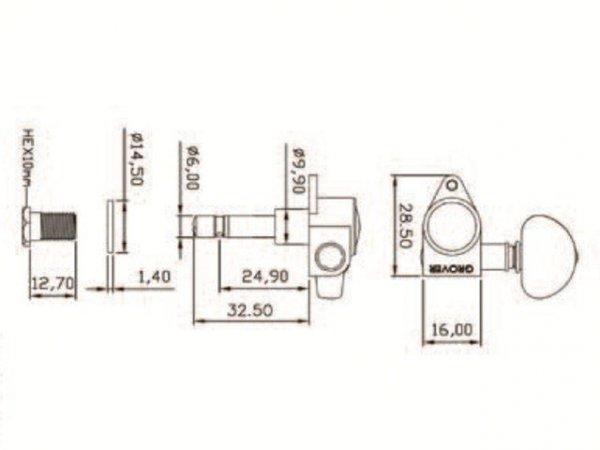 Klucze blokowane GROVER Rotomatics 106 (CR,3+3)