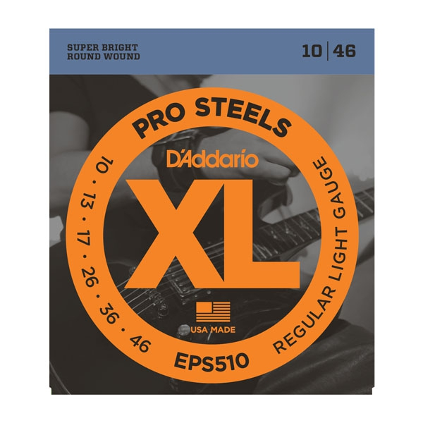 Struny D'ADDARIO XL ProSteels EPS510 (10-46)