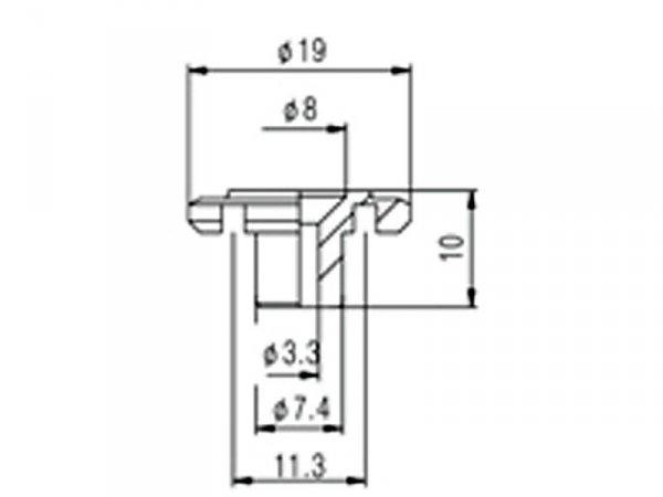 Docisk strun do basu VPARTS HS-001 (złoty)