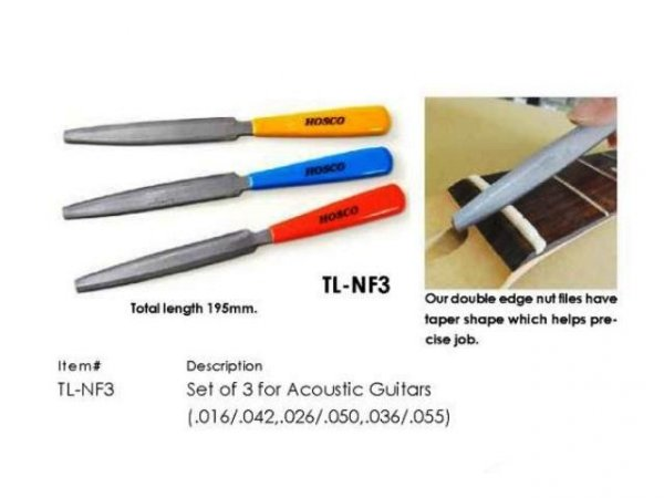 Pilniki do siodełek gitar akustycznych HOSCO NF3A