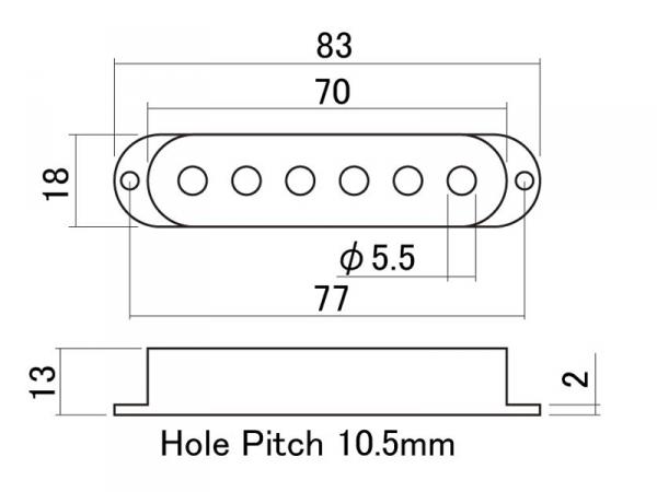 Osłona przystawki single-coil HOSCO PC-2 (WM)