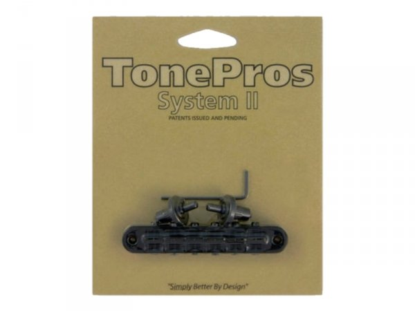 Mostek tune-o-matic TONEPROS T3BP 4,2mm (BK)