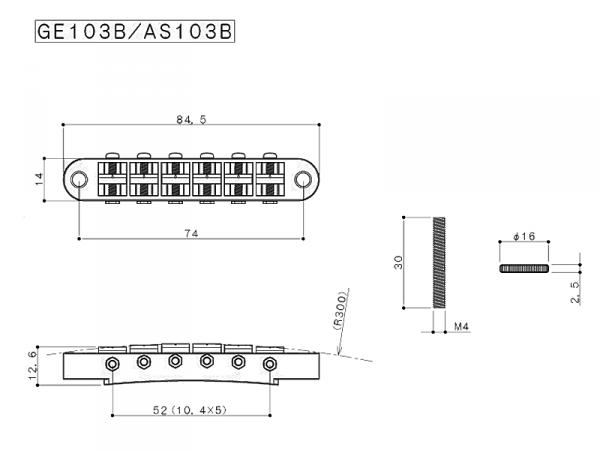 Mostek GOTOH GE103B (BK)