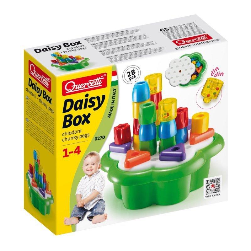 Quercetti Układanka Daisy box chunky pegs, 28 elementów