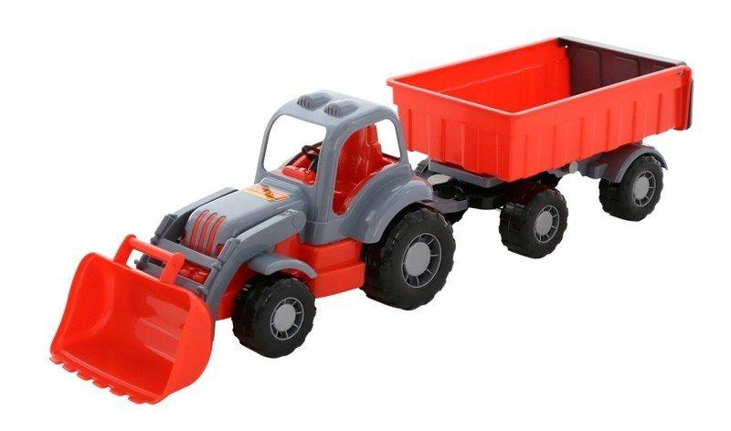 WADER-POLESIE Pojazd Siłacz Traktor z przyczepą i łyżką