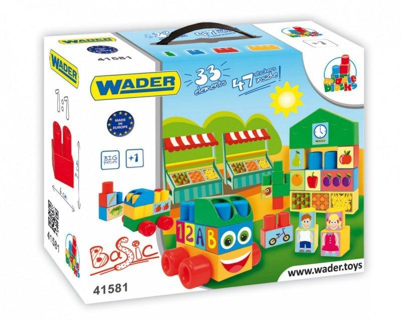 Wader Klocki Middle Blocks 33 elementów Basic