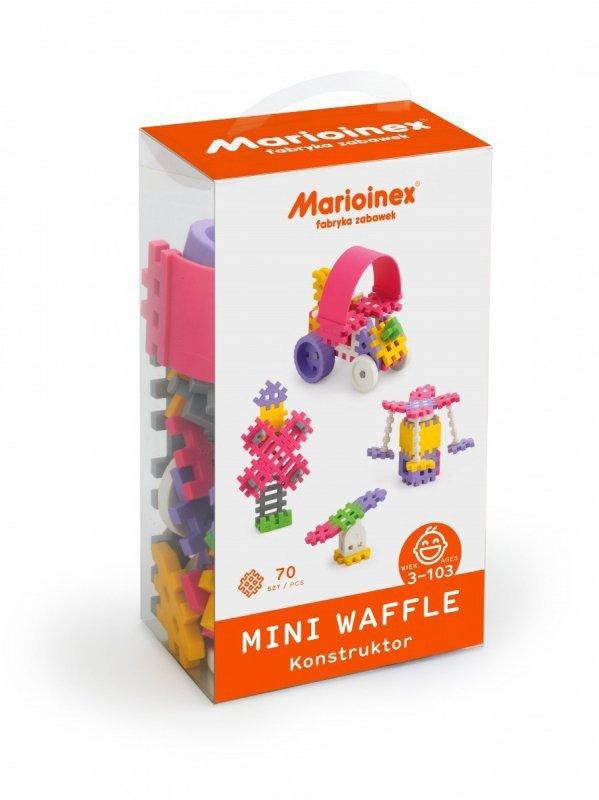 Marioinex Klocki waffle mini 70 sztuk dziewczynka