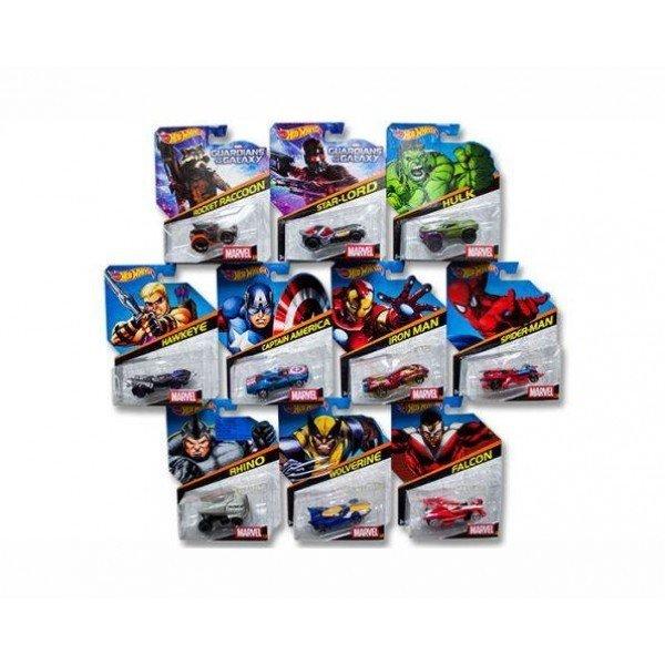 Hot Wheels Marvel samochodzik bohatera