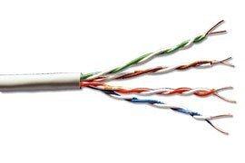 Kabel teleinformatyczny, instalacyjny, U/UTP kat.5e 4x2xAWG23/1, drut, miedziany, LSZH, 100m, fioletowy