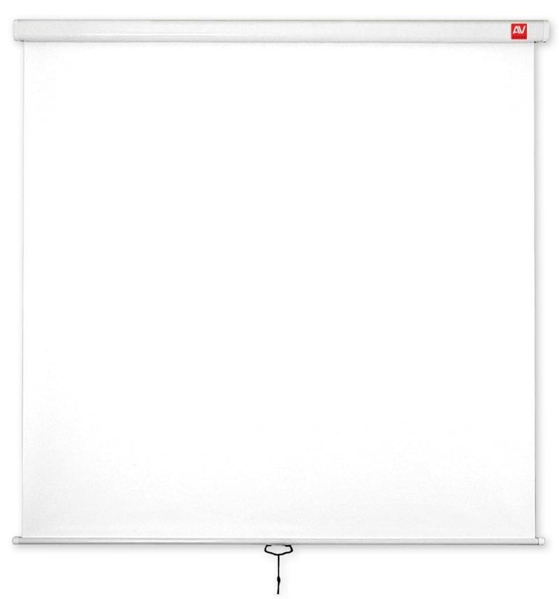 Ekran ścienny ręczny Wall Standard 200, 1:1, 200x200cm, powierzchnia biała, matowa