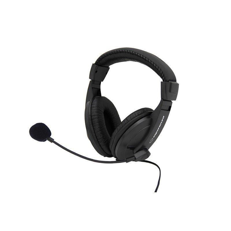 Słuchawki stereo z mikrofonem i regulacją głośności EH103