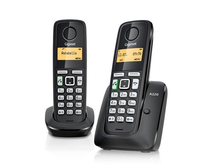 GIGASET Telefon DECT A220 DUO  bezprzewodowy
