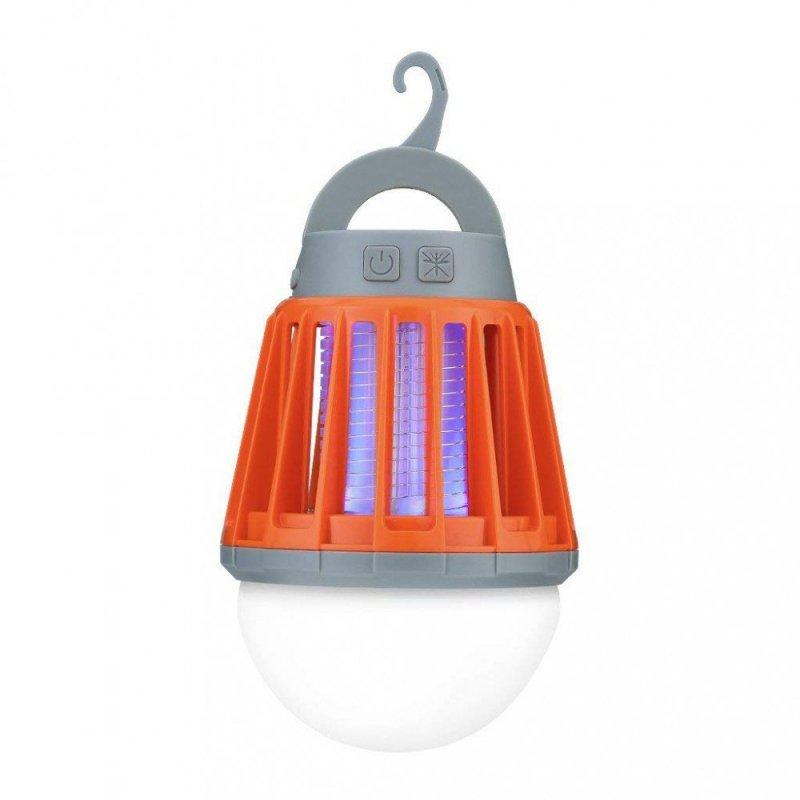 Lampa LED z wbudowaną elektryczną pułapką na owady