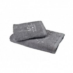 APIS Ręcznik frotte z logo 50x100 – szary