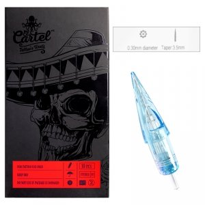 Igły Kartridże El Cartel 0.30mm 9RS Shader 10 szt.