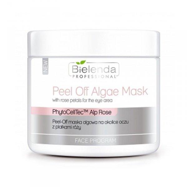 BIELENDA Peel-off maska algowa na okolice oczu z płatkami róży 90 g