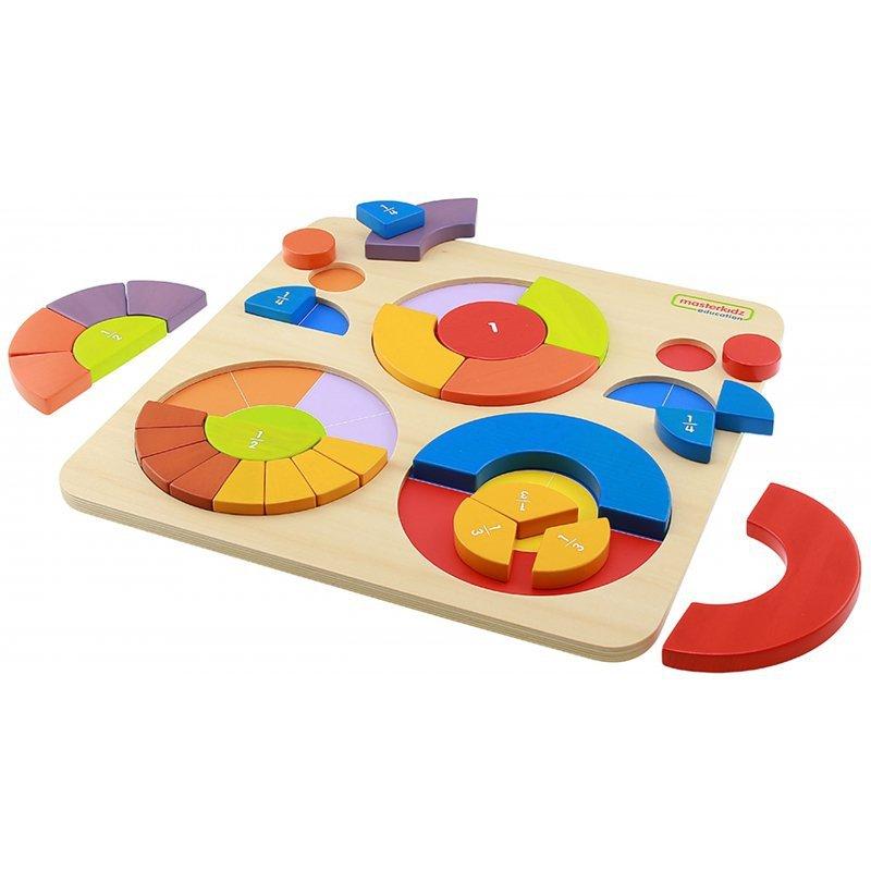 Edukacyjne Puzzle Drewniane Masterkidz Kolorowe Układanka