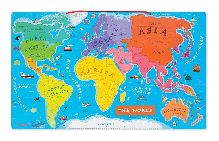 Puzzle magnetyczne Mapa świata tuliki.pl