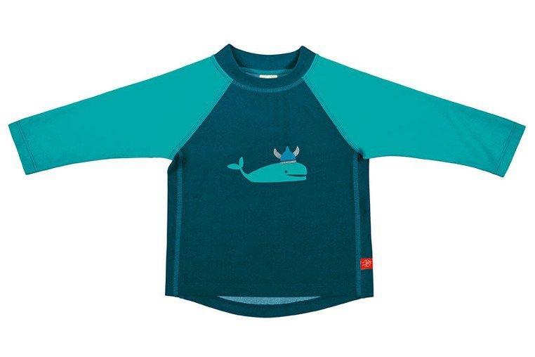 Lassig, Koszulka do pływania z długim rękawem Blue whale, UV 50+, 6-12miesięcy