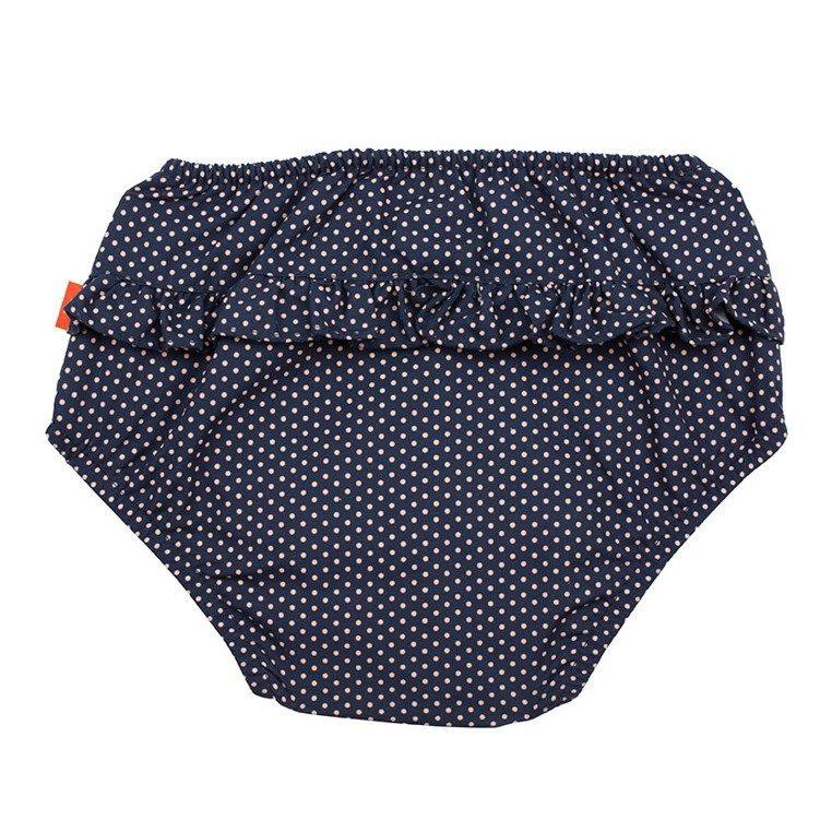 Lassig Majteczki do pływania z wkładką chłonną Polka Dots navy UV 50+