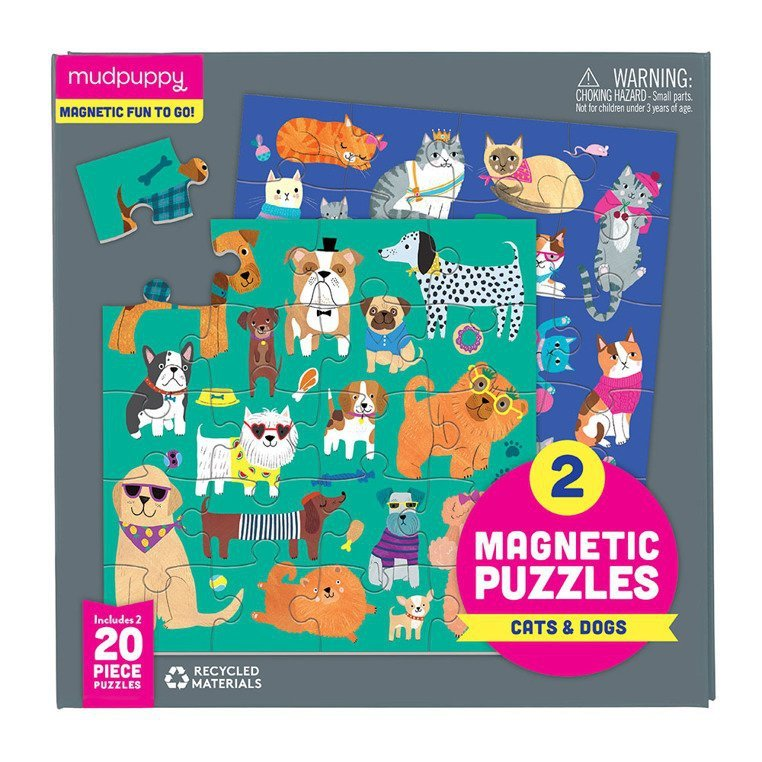 Puzzle magnetyczne Koty i psy 4+ www.tuliki.pl