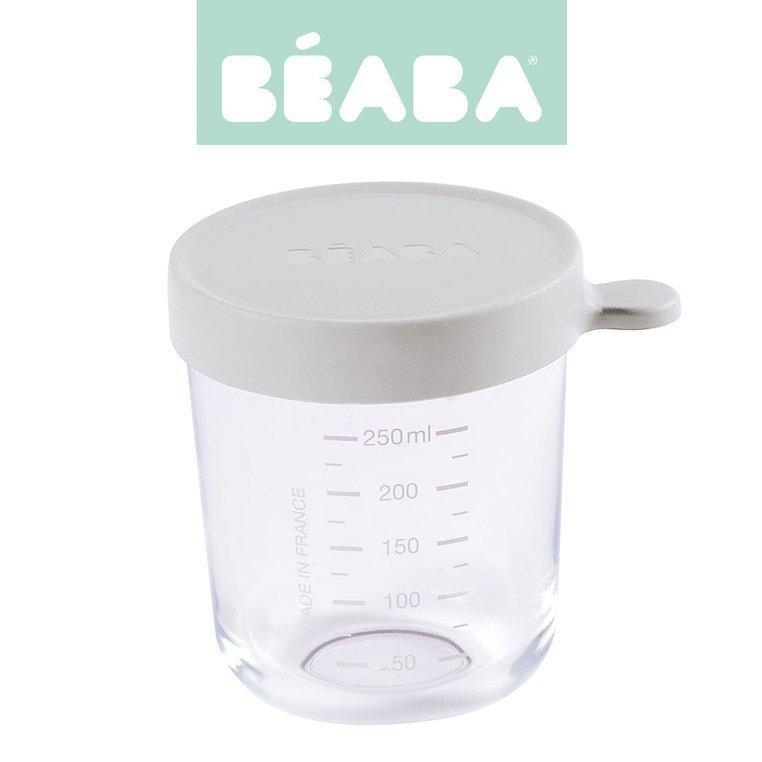 BEABA Pojemnik słoiczek szklany z hermetycznym zamknięciem 250 ml Light Mist
